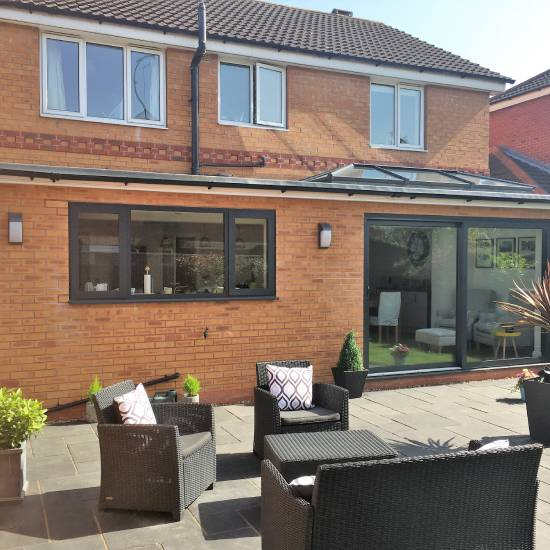 Single storey house extension in Sheffield